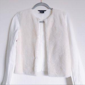 Like New Armani Exchange Faux Fur Jacket Sweater